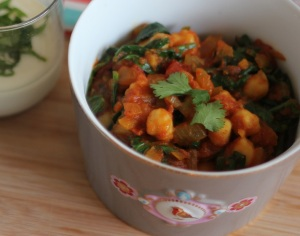 Masala with chickpea and spinach_5